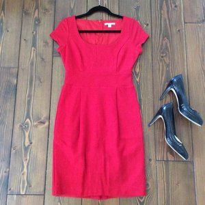 2/$40: Banana Republic 4 100% Wool Red Dress